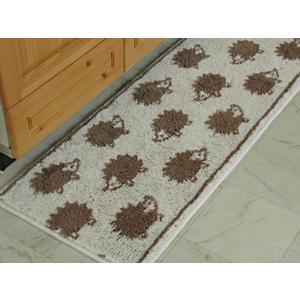 キッチンマット 260 北欧 ロング ハリネズミ 45×260 はりねずみ モダン 洗える シンプル|orizin