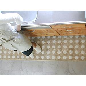 キッチンマット 綿 160 北欧 ロング 水玉 ドット 50×160 ナチュラル モダン Polka dot 洗える シンプル|orizin