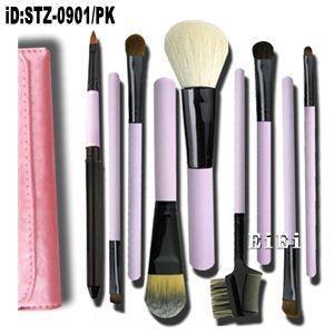 在庫処分 時間限定セール 9本メイクブラシセット 化粧ブラシセット メイクブラシ収納ケース付  STZ-0901|oroshi-ee