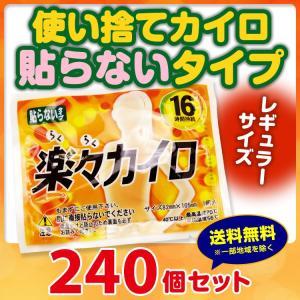 使い捨てカイロ 楽々カイロ 貼らない レギュラー240個(1...