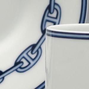 エルメス カップ ソーサー HERMES シェーヌダンクルBL 02717P 比較対照価格 28,080 円|oroshiya|04