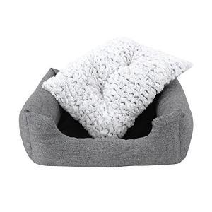 SONGMICS 猫ベッド 犬用ベッド ハウス たっぷりPP綿充填 耐噛み 内部サイズ40×33cm 洗える NPGW22G...