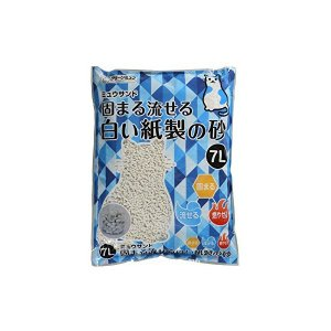 クリーンミャウ クリーンミュウ固まる流せる白い紙製の砂 7L クリーンミャウ