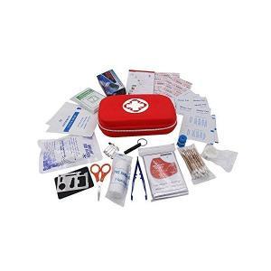 救急セット ファーストエイドキット 救急バッグ 登山 携帯用救急箱 非常時用 応急処置17種類セット
