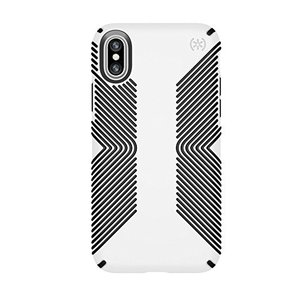 Speck iPhone X ケース AP-1003 Presidio Grip - White/B...