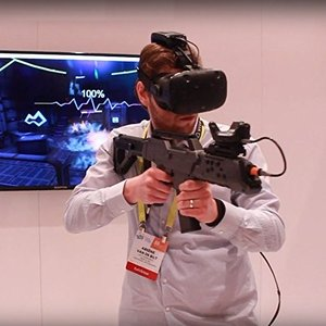 VRガン Bluetoothゲームガン 360°回転操作 ゲームパッド FPS/HTC VIVEに適...