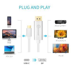 Kimwood USB C to DisplayPort 変換ケーブルディスプレイポート ケーブル ...