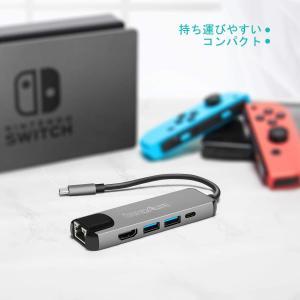 Nintendo Switch TYPE-C TO HDMI変換アダプター-innoAura 有線L...