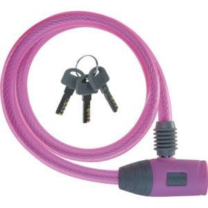 J&C(ジェイアンドシー) ワイヤーロック JC-020W φ10mm×600mm ピンク