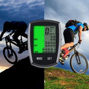 サイクルコンピュータ ケイデンス 自転車コンピューター スピードメーター スピード 距離 気温 消費カロリー計算|orsshop