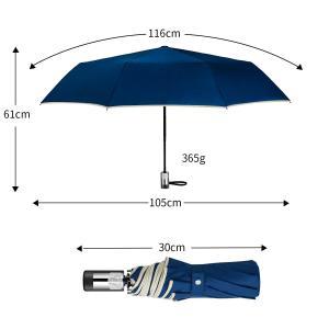 KIZAWA 折りたたみ傘 ワンタッチ自動開閉 おりたたみ傘 メンズ 安全式 210T高密度 撥水加...