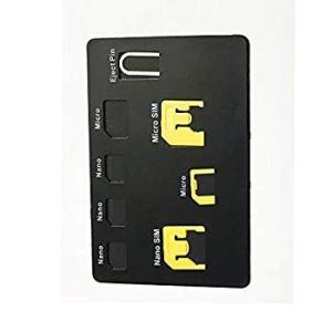 新しいSIMカードアダプターセットとナノSIMカードホルダーケース、Iphoneピン針、7 SIMカ...