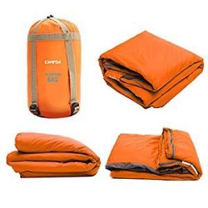 CAMTOA アウトドアシュラフ 寝袋 封筒型 シュラフ 超軽量 ミニ収納 190 x 75cm キ...