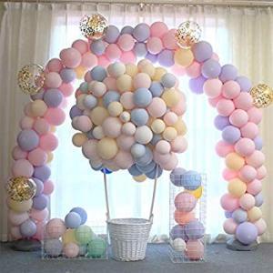 Amycute 風船 マカロンバルーン アソート風船 誕生日 飾り付け 100個セット キラキラ光沢 10インチ 2.2g 卒業式 結婚式