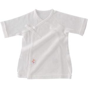 赤ちゃんの城 短肌着 スマイルコットン 50?60 オフホワイト ベビー 新生児 肌着 日本製 春 秋 冬の画像