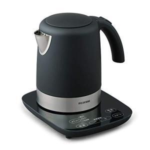 アイリスオーヤマ デザインケトル 温度調節付 自動メニュー ブラック IKE-D1000T-B