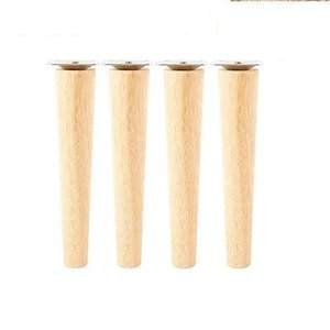 Steppiano 4本セット 家具脚 ソファー足 木製 家具パーツ 脚 テーブル脚 円錐形 ソファ...