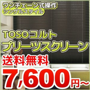 プリーツスクリーン シングル チェーン式 幅50-80cm 高30-60cm コルト orsun