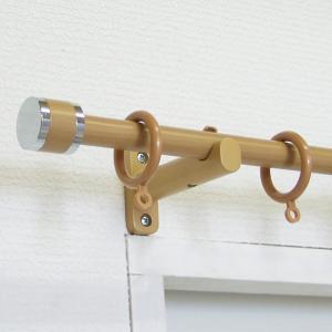 カーテンレール リングタイプ 伸縮式 木目調 「フェスタ」 1.2〜2m対応 シングルレール|orsun