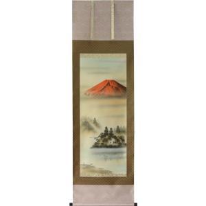 掛軸 赤富士 岳村 (掛け軸 尺五立) 縁起の良い掛軸・掛け軸|orudo