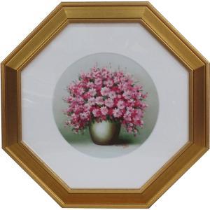 油絵 吉祥額(風水画)1 赤花 |orudo