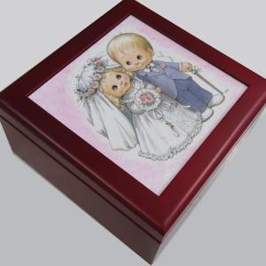 曲目選択  正方形(幸せな二人の結婚) アートボックス 宝石箱オルゴール|orugoruya