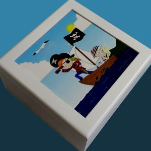 曲目選択 正方形(かわいい海賊) アートボックス 小物入れ オルゴール|orugoruya