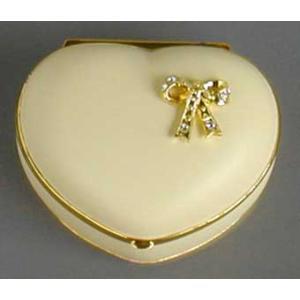ハート型リボン付き宝石箱 アイボリー/世界に一つだけの花  アンチモニー バレンタイン ホワイトデー|orugoruya