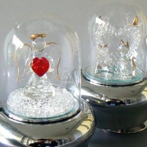10曲より選択 光ドーム ガラス オルゴール ハート2種  ライト付き|orugoruya