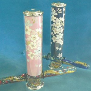 万華鏡(さくら柄 オイル式 スタンド型)オルゴール 桜  |orugoruya