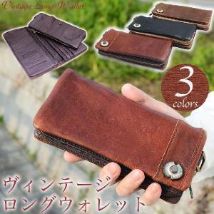 メンズ 長財布 本革製 ラウンドファスナー 小銭入れ付き アンティーク さいふ サイフ 財布 DEVICE|osaifuyasan