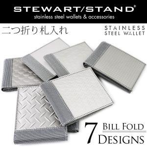 メンズ 財布 二つ折り 札入れ ステンレス メタル スチュワートスタンド STEWART STAND|osaifuyasan