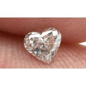 K18WG ハートシェイプ ダイヤモンド 0.241ct ネックレス|osaka-jewelry