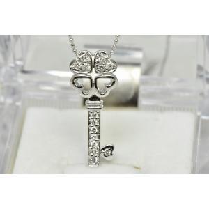 K18WG 合計 0.17ct ダイヤモンド ペンダント ネックレス|osaka-jewelry