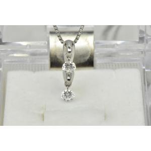 K18WG 合計 0.30ct ダイヤモンド ペンダントネックレス|osaka-jewelry