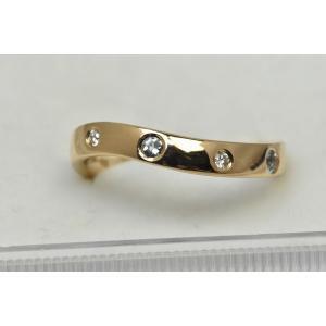 4℃ ヨンドシー K18PG ダイヤモンドリング 8号 指輪|osaka-jewelry
