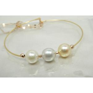 あこや真珠 マルチカラー ブレスレット 【新品】K18 K18PG|osaka-jewelry