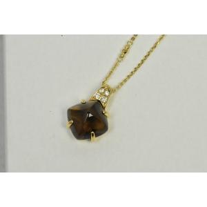 大丸 保証書 K18 スモーキークオーツ ペンダント ネックレス|osaka-jewelry