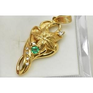 K18 ゴールド エメラルド ペンダントトップ|osaka-jewelry