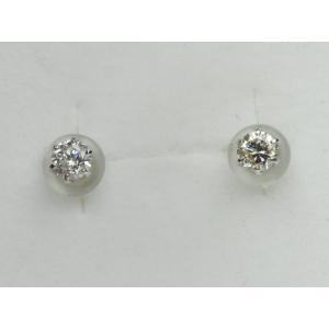 Pt900 プラチナ 0.30ct ダイヤモンド ピアス|osaka-jewelry