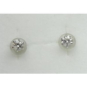 プラチナ Pt900 0.16ct×2個 ダイヤモンド ピアス|osaka-jewelry