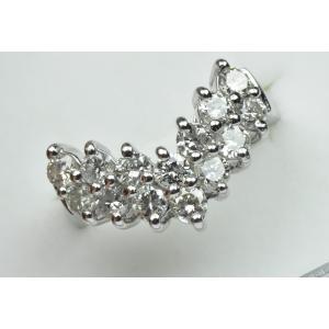 Pt900 V字 合計 1.00ct ダイヤモンドリング 8.5号 指輪|osaka-jewelry