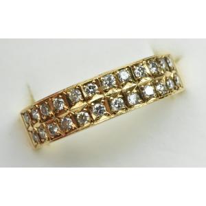 K18 ゴールド 合計 0.30ct ダイヤモンドリング 11.5号 指輪|osaka-jewelry