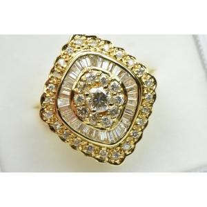 ゴージャス K18 合計 1.30ct ダイヤモンドリング 9.5号 指輪|osaka-jewelry