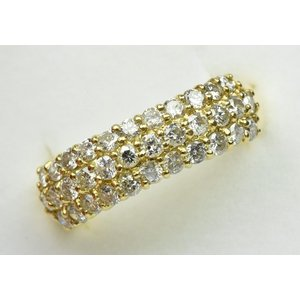 K18 合計 1.03ct パヴェ ダイヤモンドリング 12号 指輪|osaka-jewelry