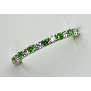 綺麗 デマントイドガーネット プラチナ リング 10号 指輪|osaka-jewelry