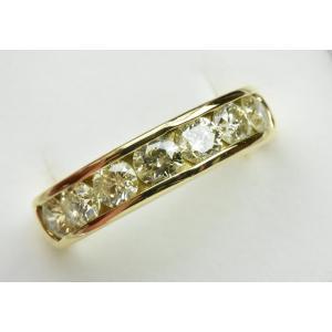 K18 ゴールド 合計 1.54ct ダイヤモンドリング 12号 指輪|osaka-jewelry