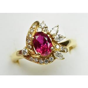 京セラ クレサンベール K18 綺麗な ルビー リング 12号|osaka-jewelry