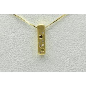 K18 カラーダイヤモンド入り 0.28ct ペンダント ネックレス|osaka-jewelry