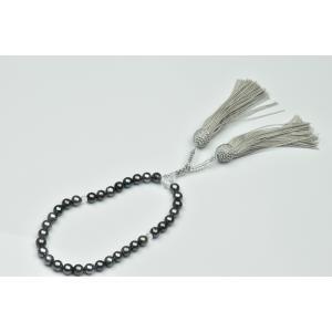 あこや真珠 染めグレーパール 念珠 8mm くらい 未使用|osaka-jewelry
